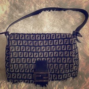 Black and grey Fendi purse